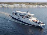 Pictured: P&O's new £220million cross-Channel 'super ferry'