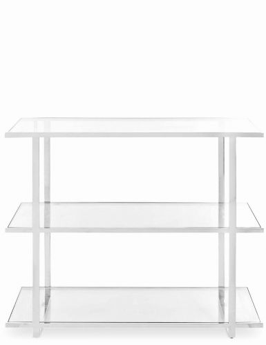 50 Elegant Glass Console Table with Shelf Images