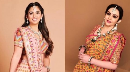 What Isha and Nita Ambani wore for dandiya night