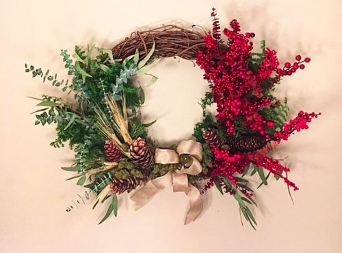 Forget holly, how about a Cannabis Christmas wreath this year?