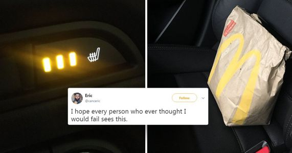 Guy comes up with genius hack to keeping fast food warm in the car