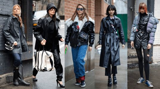 Slick Leather Looks Took Center Stage on Day 5 of New York Fashion Week