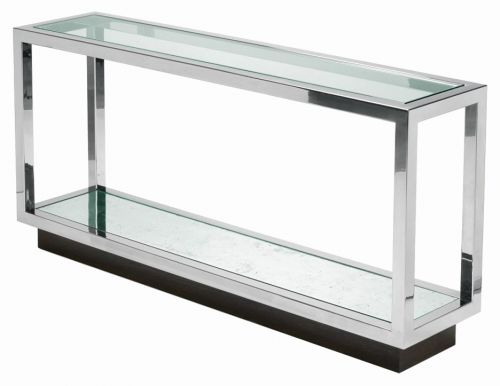 50 Elegant Glass and Chrome Console Table Graphics