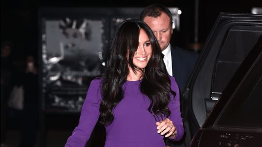 Meghan Markle Wore a Thing: Aritiza Purple Dress Edition