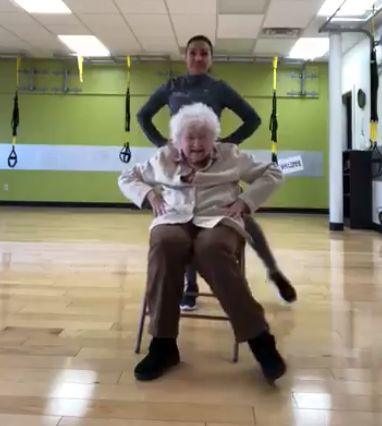 If you're debating whether to go to the gym, watch this 93-year-old's PT session