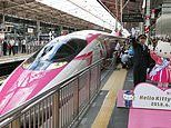 All aboard Hello Kitty: Pink bullet train debuts in Japan
