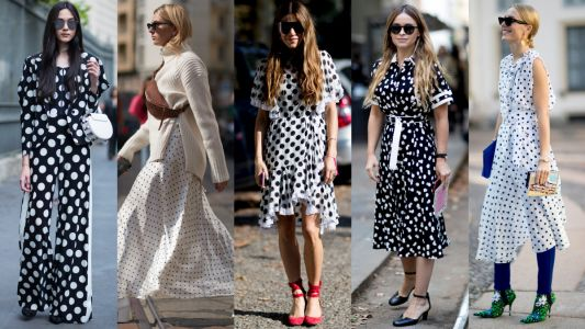 Polka Dots Proved to Be a Very Popular Print at Milan Fashion Week