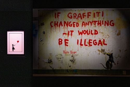 Banksy Pays Tribute To The Late George Floyd, and The Black Lives Matter Movement