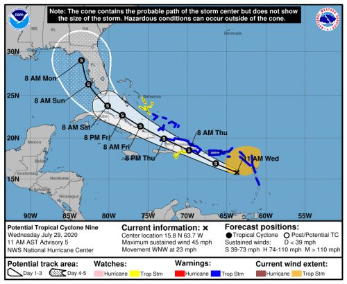 Airlines issue flight waivers as Tropical Storm Isaias slams the East Coast with tornadoes, heavy rain