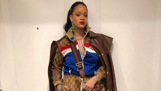 Rihanna Leans Into Logomania With a Very Guccified Outfit