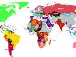 World map based on Google data illustrates where nationalities most want to go on holiday in 2021