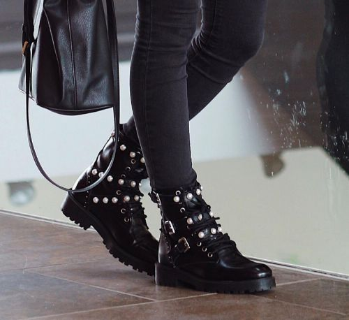 The studded boots that bloggers posting all over Instagram are from Zara