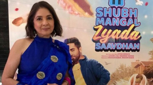 Neena Gupta in daughter Masaba's saree gets her glam game on for Shubh Mangal Zyada Saavdhan premiere