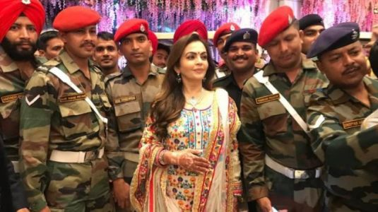 Nita and Mukesh Ambani celebrate Akash and Shloka's wedding with the armed forces