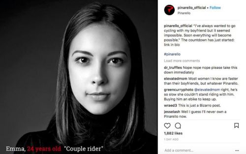 Bike brand Pinarello causes outrage with sexist advert