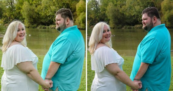 Bride calls out photographer for fat-shaming after she photoshopped the couple to look thinner