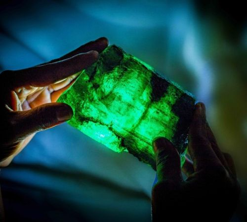 This massive 5,655-carat emerald is up for auction in Singapore