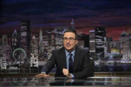 John Oliver bought Russell Crowe's leather jockstrap - and he wants it to go to Blockbuster