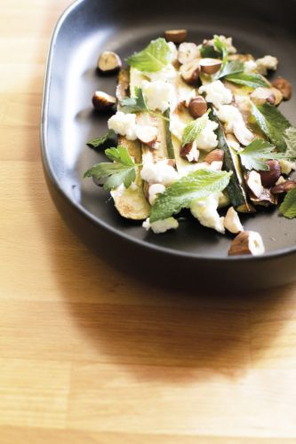 Paul West's favourite recipes: Grilled zucchini with cheese, herbs and nuts