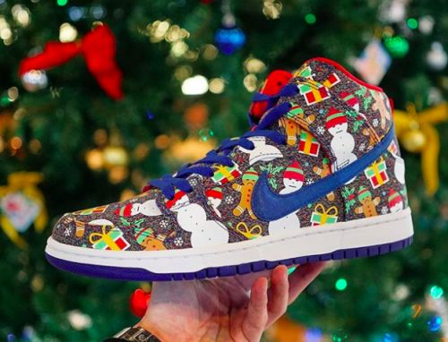 So, how about a pair of 'ugly Christmas sweater' Nike kicks?