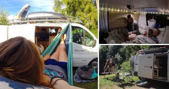 Couple quit their jobs to travel around Europe in a converted van