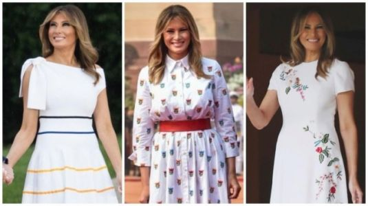 Before Melania Trump in India 2020: 4 times Carolina Herrera dressed FLOTUS in white