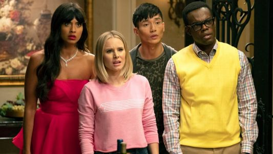 'The Good Place' Costume Designer Drops Easter Eggs into Eleanor's Sweatshirts and Jason's Tracksuits