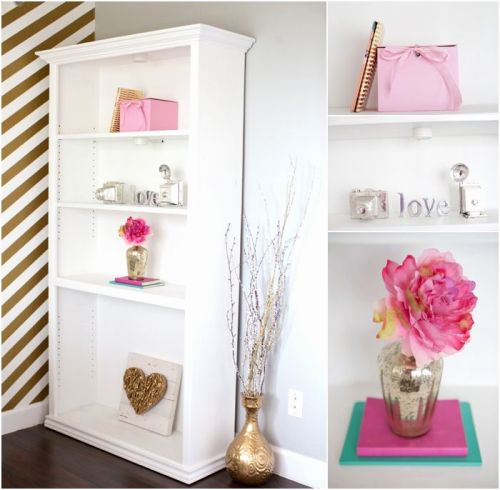30 Elegant Pink and Gold Desk Accessories Pics