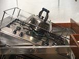 MailOnline cooks on a swinging stove during the Clipper Round the World Yacht Race