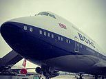 Kay Burley salutes BA's salute to a golden era of flying as a 747 in BOAC colours lands at Heathrow