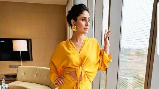 Kareena Kapoor Khan is a ray of sunshine in this yellow skirt-blouse