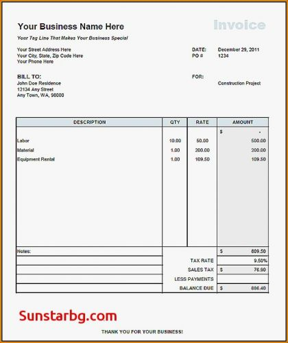 30 Beautiful Independent Contractor Invoice Template Pdf Pics