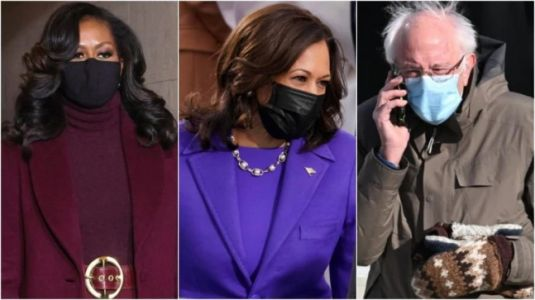 Michelle Obama's belt, Kamala Harris's pearls, Bernie's mittens: Inauguration Day fashion picks