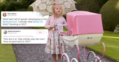 People are mighty annoyed about this toy pram advert