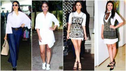WHITE COLLAR COUTURE: With Shraddha Kapoor and Parineeti Chopra revisiting the classic white shirt in refreshing ways