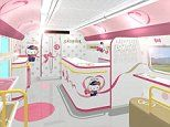 Inside the Japanese bullet train that has been given a Hello Kitty makeover