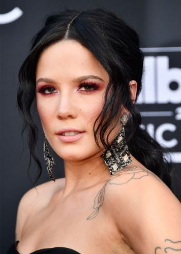 Halsey Used Diamond Necklaces to Accessorize Her Billboard Music Awards Hairstyle