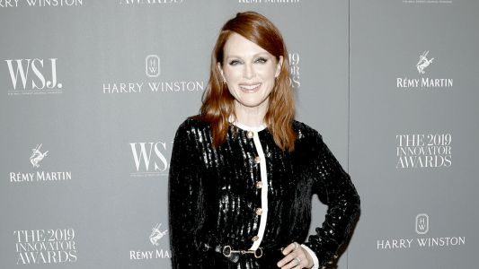 Julianne Moore Wore a Jazzed-Up Celine Cardigan to the 'WSJ. Magazine' 2019 Innovator Awards