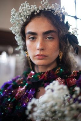 Backstage at Rodarte's ethereal fashion show in Paris
