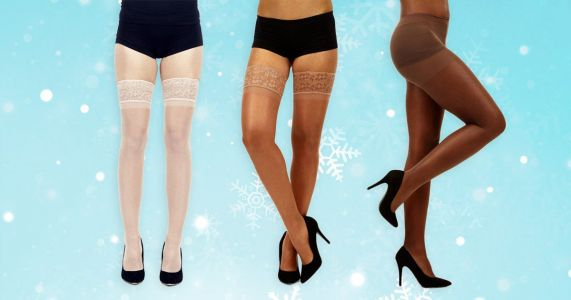 These nude tights for all are a Christmas party saviour