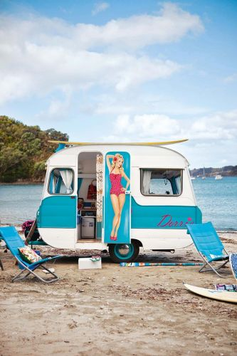 How a little blue caravan found a new lease of life on Waiheke