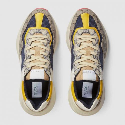 "Multicoloured Gucci Rhyton GG monogram sneakers makes ""dad"" sneakers hype"
