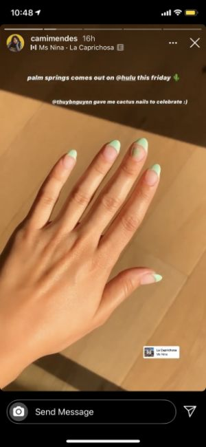 "Camila Mendes Got These Cute ""Cactus Nails"" to Celebrate Her New Movie"