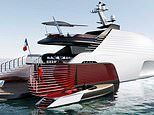 Stunning £100 million superyacht features 'red carpet' entrance