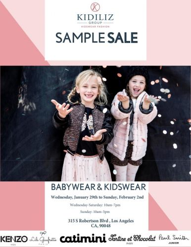 Eclipse x Kidiliz + KORAL Sample Sale, 1/29 - 2/2