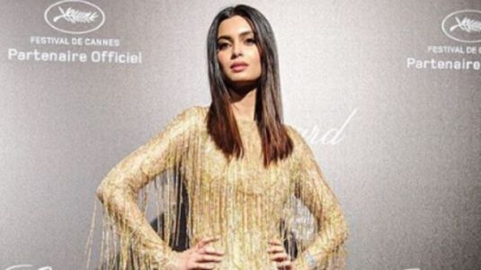 Diana Penty makes glittering debut in mini dress and thigh-high boots at Cannes 2019 party. See pics