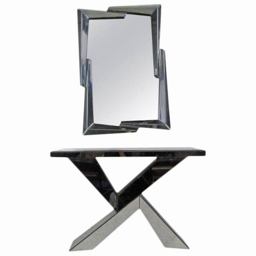 49 Beautiful Black Mirrored Console Table Pics