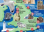 Weary of your local park? Then strike out along England's unrivalled coastfrom Bamburgh to Deal