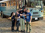 Meet the couple who gave up everything and moved their family into an OLD SCHOOL BUS