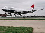 Boeing 747 arrives at London's Heathrow Airport in 'Negus' design from the 1970s